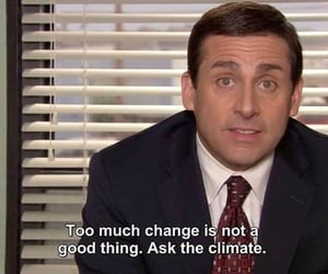 climate change, the office, and michael scott image