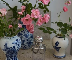 pink flowers and vase image