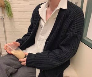button up, cardigan, and casual fashion image