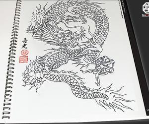 ancient, monochrome, and ryujin image