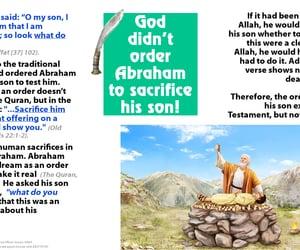 Abraham, quran, and sacrifice image