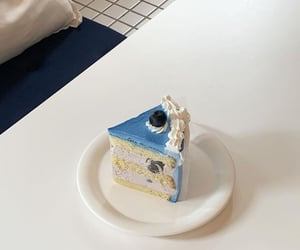 blue, aesthetic, and cake image