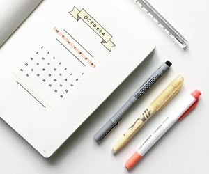 bullet journal, ideas, and journal image