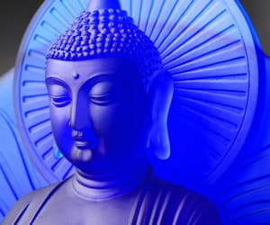 blue, Buddha, and crystal image
