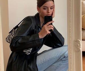 clothes, leatherjacket, and zebraprint image