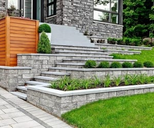 retaining wall, retaining wall ideas, and garden wall ideas image