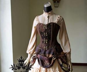 dress, pattern, and vintage image