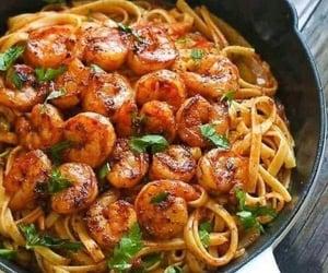 shrimp, food, and pasta image