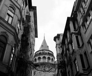 black, galata kulesi, and istanbul image