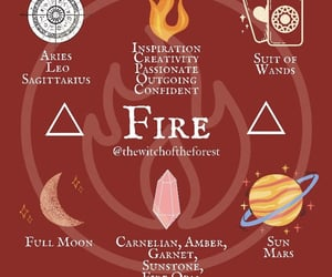 crystals, elements, and fire image