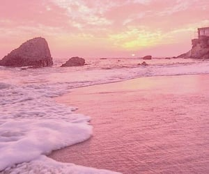 pink, wallpaper, and beach image