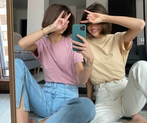 pink, friend friends, and cute image