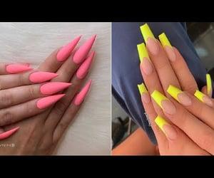 nail art, video, and acrylic nails image