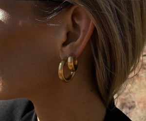fashion, girl, and earrings image