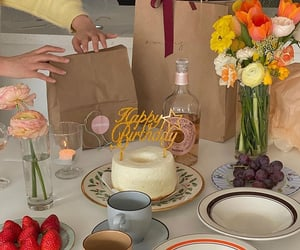 birthday, dessert, and drinks image