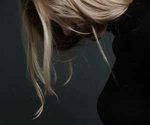 blonde, hair, and black image