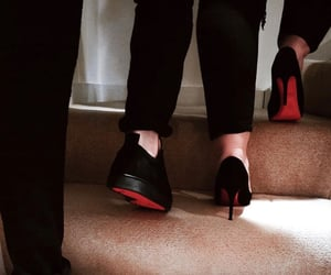 christian louboutin, husband and wife, and red bottoms image