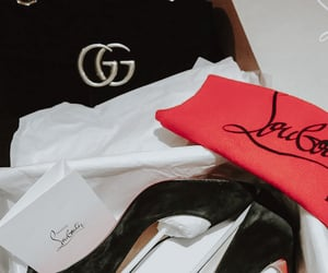 christian louboutin, red bottoms, and marmont image