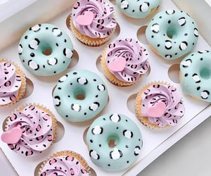 cupcake, donuts, and food image