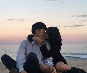 couple, korean, and sunset image