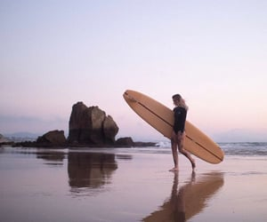 beach, surfer girl, and surfer image