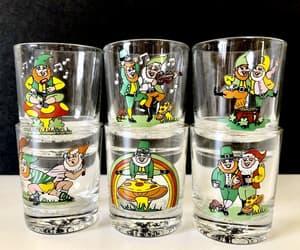 etsy, vintage barware, and whiskey glasses image