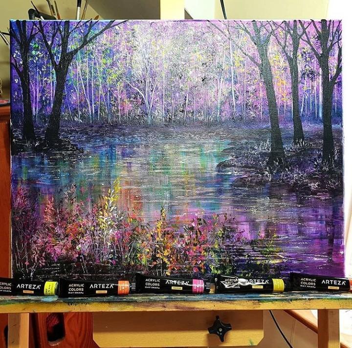 arte, colores, and pinturas image