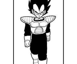 manga, vegeta, and dragonballz image