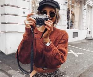 brown, camera, and girl image
