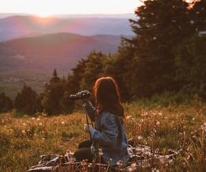 camera, sun, and lové image