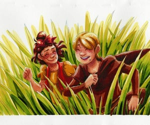 nostalgia, tall grass, and watercolor image