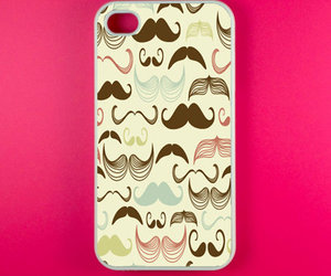 cool, iphone, and mustache image