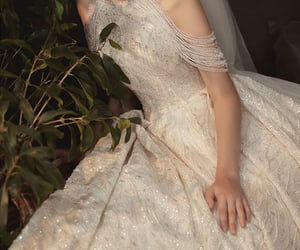 bridal, dress, and bride image