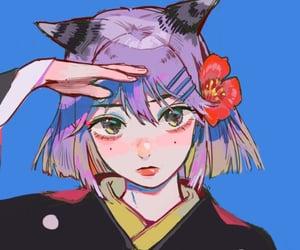 aesthetic, anime, and anime girl image