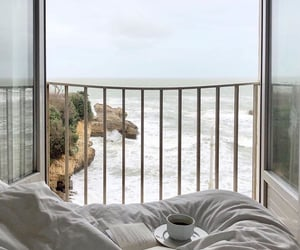 bed, coffee, and beach image