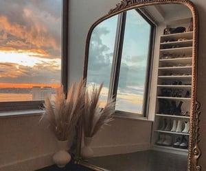 mirror, sky, and interior image