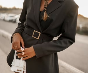 fashion, outfit, and jacquemus bag image