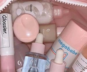 pink, glossier, and makeup image