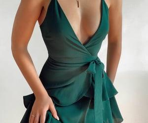 dress, fashion, and neckline image