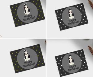 art print, kawaii card, and adorable husky image