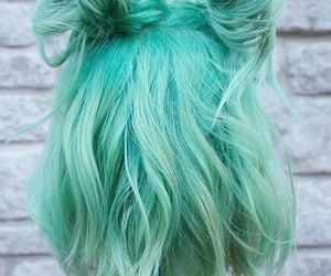 dyed, aqua, and dyed hair image