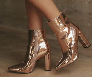 boots, fashion, and gold image