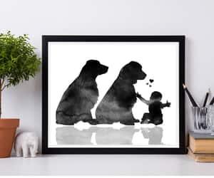 etsy, springer spaniel, and baby room art image
