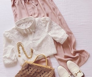 blouse, skirt, and pink wear image