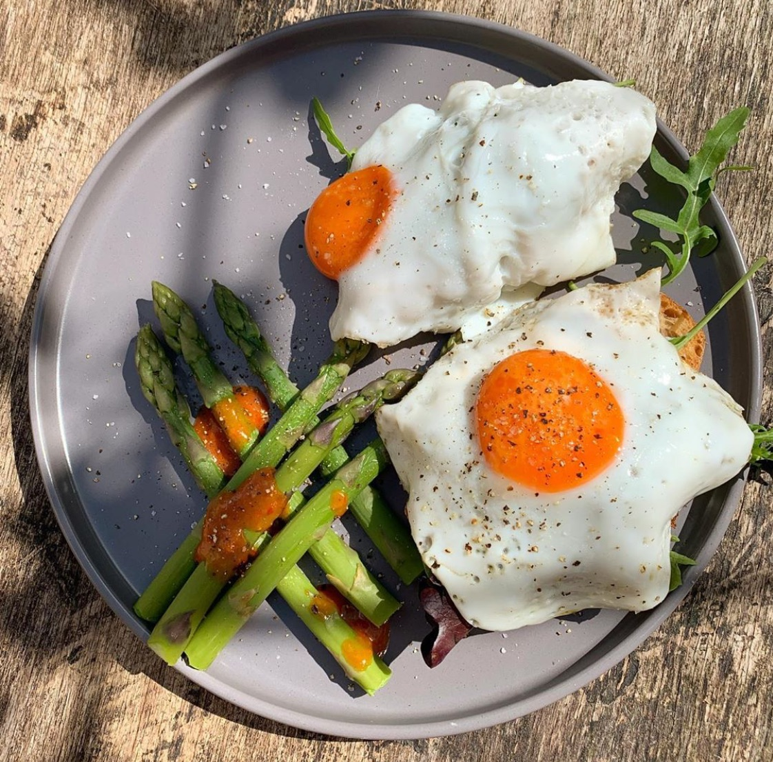 asparagus, brunch, and delicious image