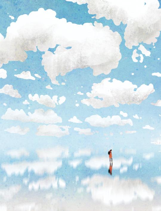 alone, art, and illustration image