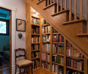 aesthetic, books, and stairs image