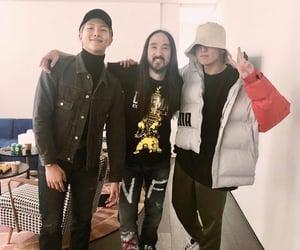 steve aoki, twitter, and yoongi image