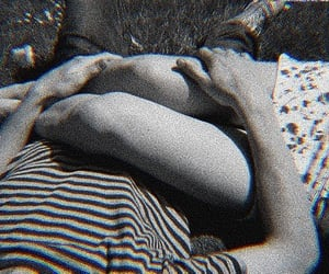 black and white, indie, and couple image