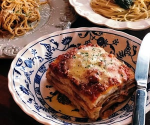 pasta, food, and lasagna image